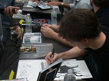 Matt Frank Honing his artistic Prowess.