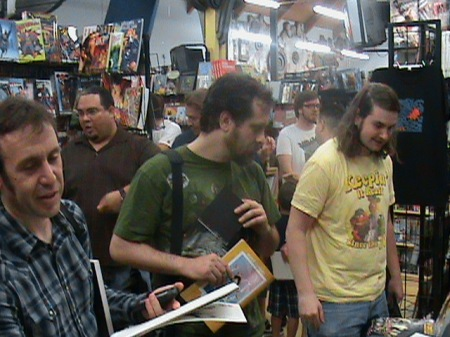 Comic Book Fans Eagerly Await Book Signings
