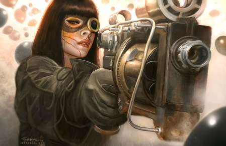 steam punk villian by Jeff DeKal Cover Artist Supreme